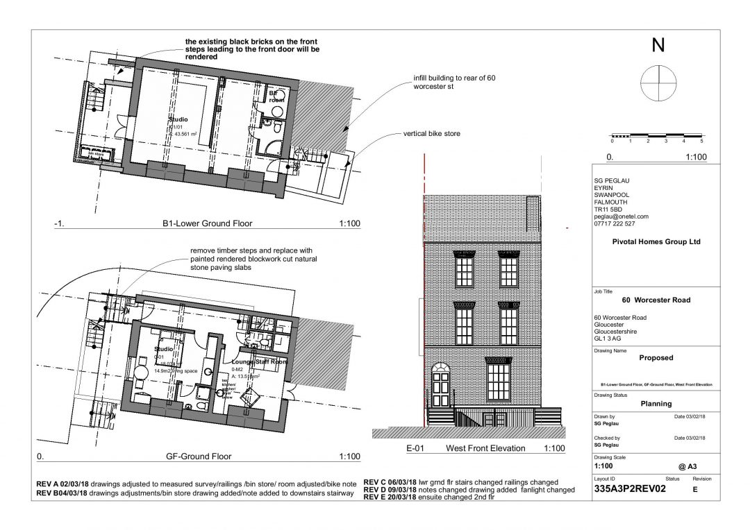 Planning Permission and Listed Building Consent secured for six studio flats in Worcester Street, Gloucester