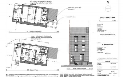 Planning Permission & Listed Building Consent for six studio flats in Worcester Street, Gloucester