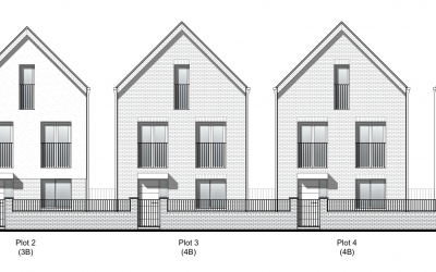 Planning  secured for a redevelopment scheme of 5 contemporary town houses