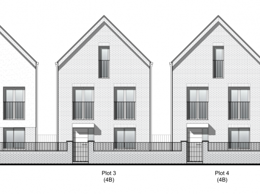Planning approval secured for a redevelopment scheme of 5 contemporary town houses