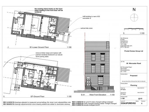 Planning Permission & Listed Building Consent for six studio flats for vulnerable adults in Gloucester